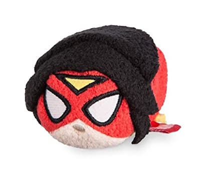 "Disney Store Marvel Women of Power Spider Woman Mini Tsum Tsum 3.5"" Plush Toy"