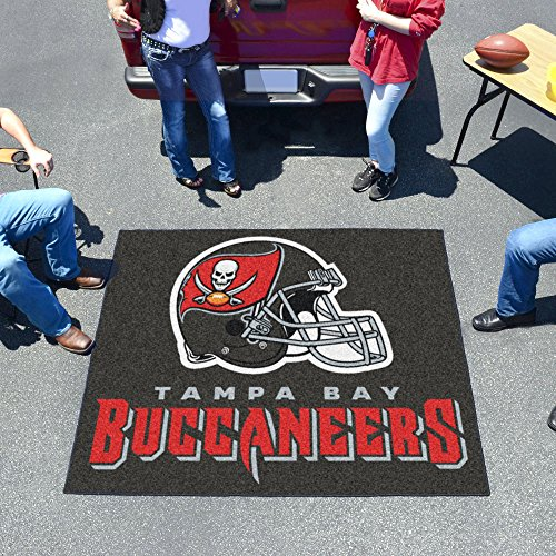 NFL Novelty Starter Mat NFL Team: Tampa Bay Buccaneers, Size: 5' x 6' by Fanmats