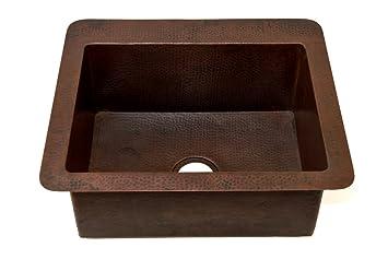 undermount kitchen copper sink 25 u0026quot  x 22 u0026quot  x 9 5 u0026quot    cucinita  ks004cv undermount kitchen copper sink 25   x 22   x 9 5     cucinita      rh   amazon com