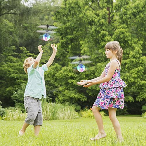 Fansteck 2 Pack Bola voladora, Mini Drone para Niños, RC Flying ...