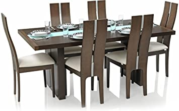 dining table chairs amazon. royal oak daffodil six seater dining table set (walnut) chairs amazon y