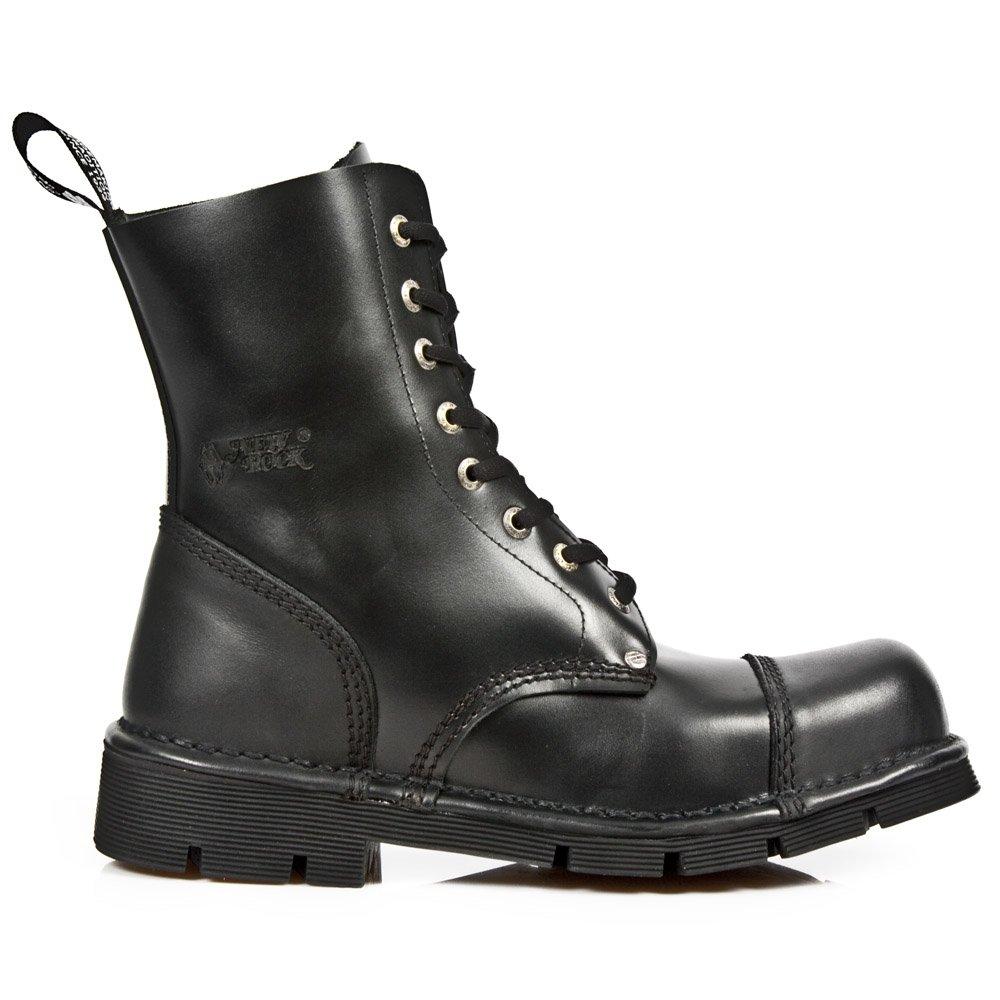 New Rock Shoes - Classic Newmili Lace Up Leather Boots UK 3
