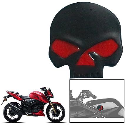 Vheelocityin Skull Black Motorcycle Decorative Decal