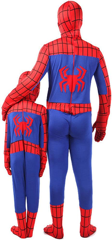 Sconosciuto Super Spiderman costume Kids Cosplay Party costume da ragazzi da uomo Hero Halloween Cosplay