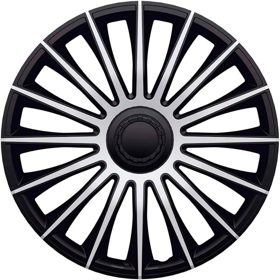 J-Tec J15550 Austin - Juego de tapacubos, 15 Pulgadas, Color Plateado y Negro: Amazon.es: Coche y moto