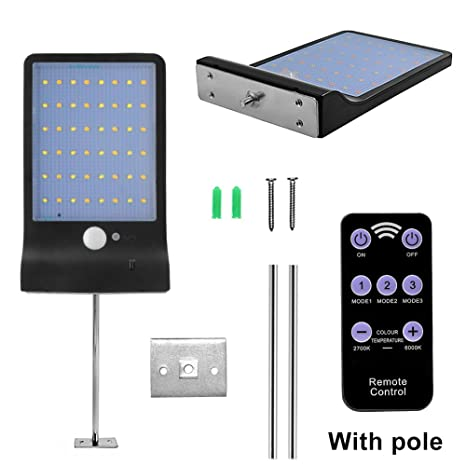 48 LED Solar Power PIR Sensor de movimiento Lámpara calle al aire libre Foco Exterior LED