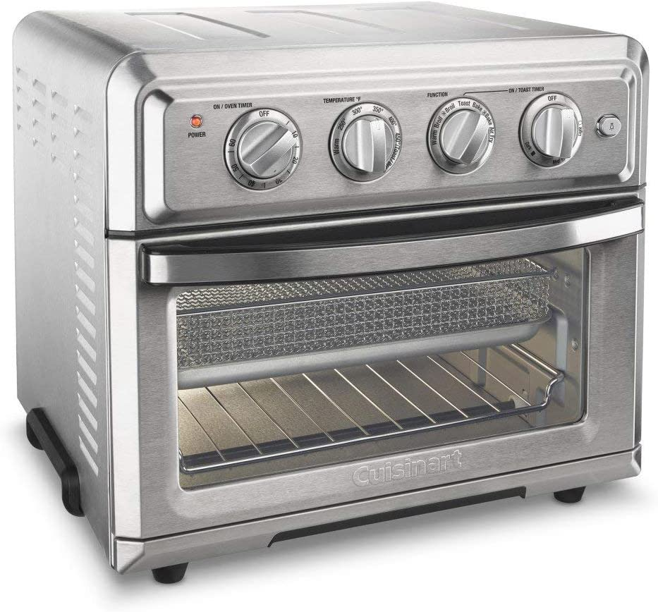 Cuisinart TOA-60 Air Fryer Toaster Oven, Silver (Renewed)