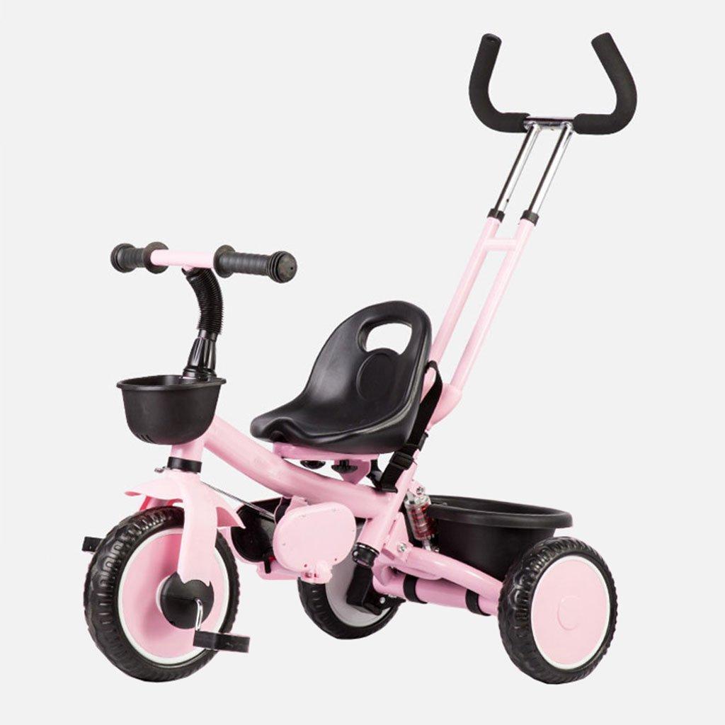 CGN子供の自転車、子供の学生の赤ちゃんの赤ん坊のキャリッジライト自転車三輪車のトロリー soft B07CMXDL35 ピンク ぴんく ピンク ぴんく