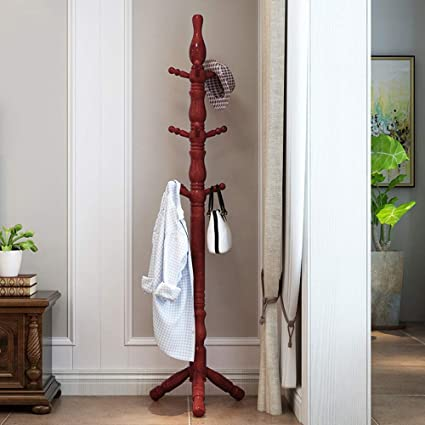 Amazon.com: COAT RACK Feifei Solid Wood Floor Rack Bedroom ...