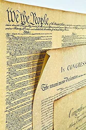 Declaration of Independence 16 X 14, Constitution of the U.S. 18.5 X 12.5, Bill of Rights 16 X 14 Posters by Historical Documents