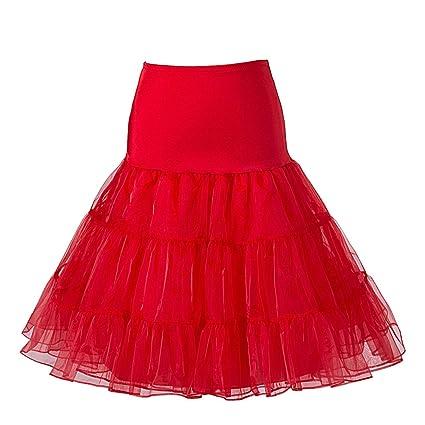 BOOLAVARD Falda de enagua Rockabilly Vintage años 50 para mujer ...