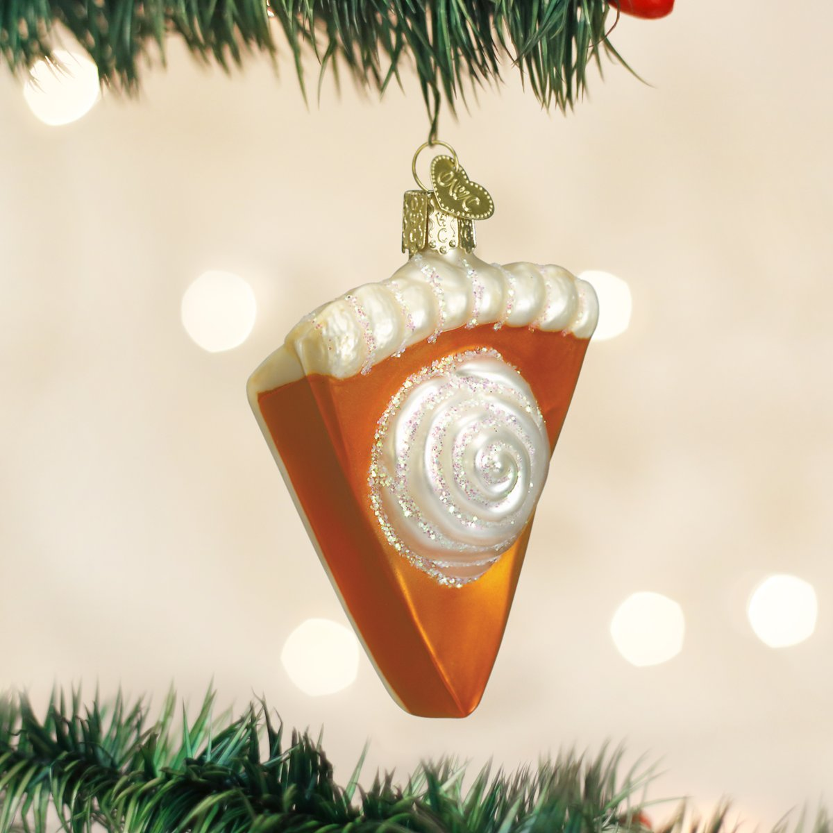 Amazon.com: Old World Christmas Piece Of Pumpkin Pie Glass Blown ...