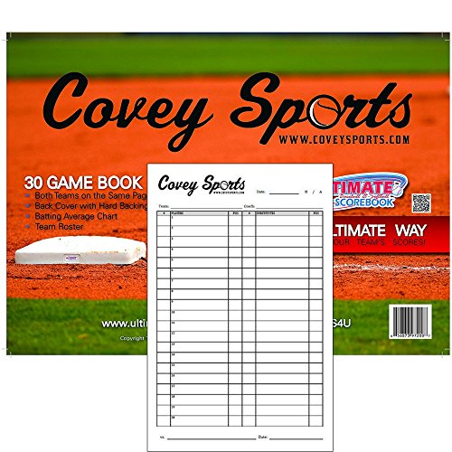 Covey Sports Scorebook (30-Game) With Lineup Cards Pack (Large 8.5