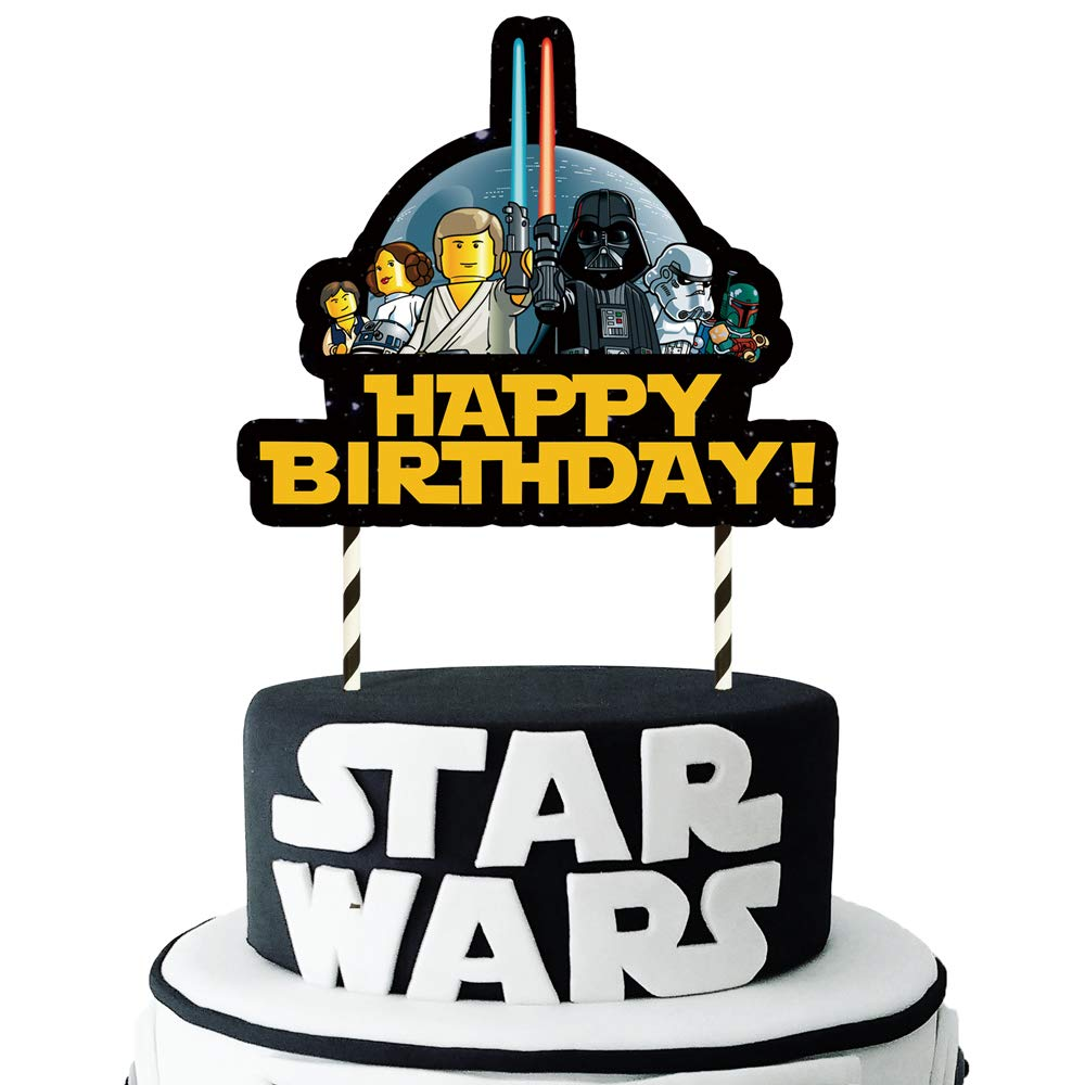 Fantastic One Phoenix Cake Decorations For Star Wars Cake Topper 1 Count Personalised Birthday Cards Fashionlily Jamesorg