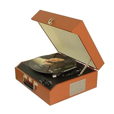 Daxiong Vinilo Reproductor de Discos Retro Portátil Vintage ...