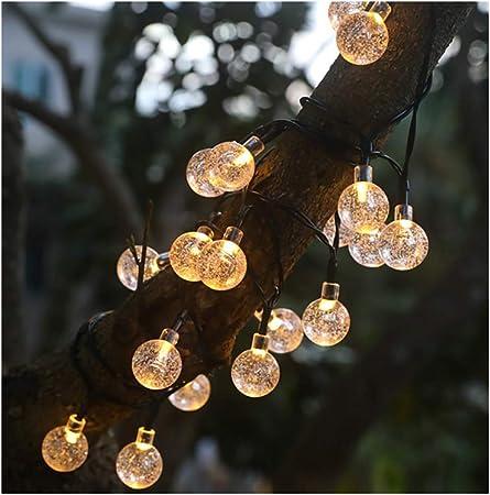 MAI&BAO Guirnaldas Luces Exterior Solar Luces Led Solares Exteriores Jardin 12m 100 LED Cadena de Luces Decoracion para Navidad, Terraza, Fiestas, Bodas, Patio, Jardines, Festivales,F: Amazon.es: Hogar
