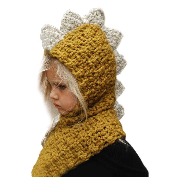 78615d2b87d66 Bonaweite Gorro de Punto de Ganchillo de Invierno cálido con Capucha y  Bufandas para niñas y