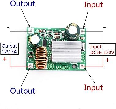 DC-DC Buck Converter 120V 100V 96V 84V 72V 60v 48v 36v to 12v 24v Car Power