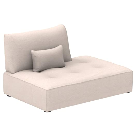Marca Amazon - Alkove Elvas - Módulo chaise longue con almacenaje y cojín adicional para sofá modular, 145 x 100 cm, beige