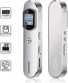 KeShi Digital 8GB Professional Audio Voice Recorder