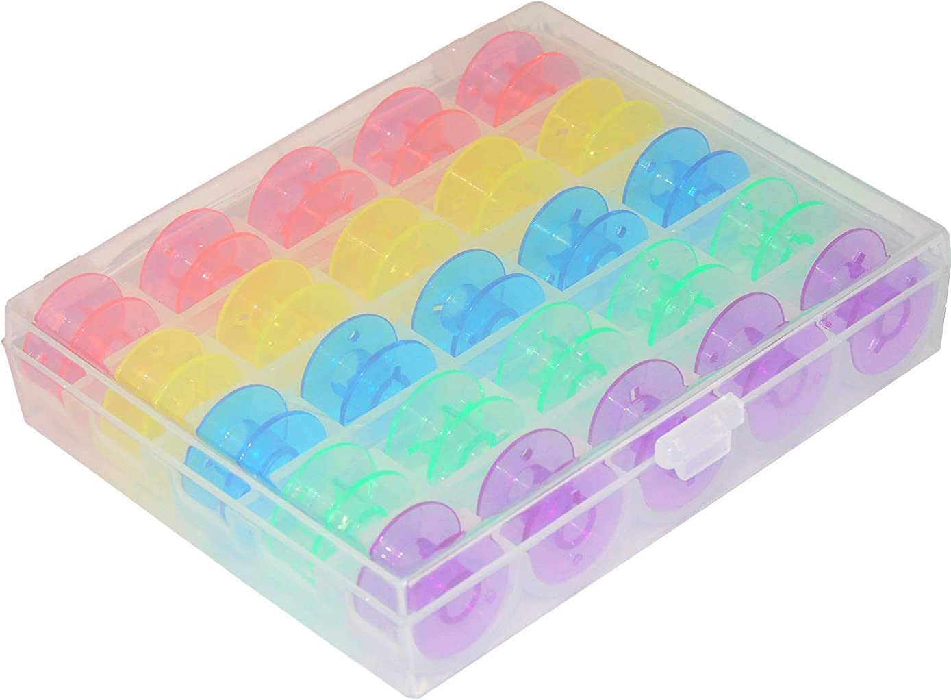 SimSel Colorful Sewing and Embroidery Bobbins SA156 for Select Brother Sewing Machines