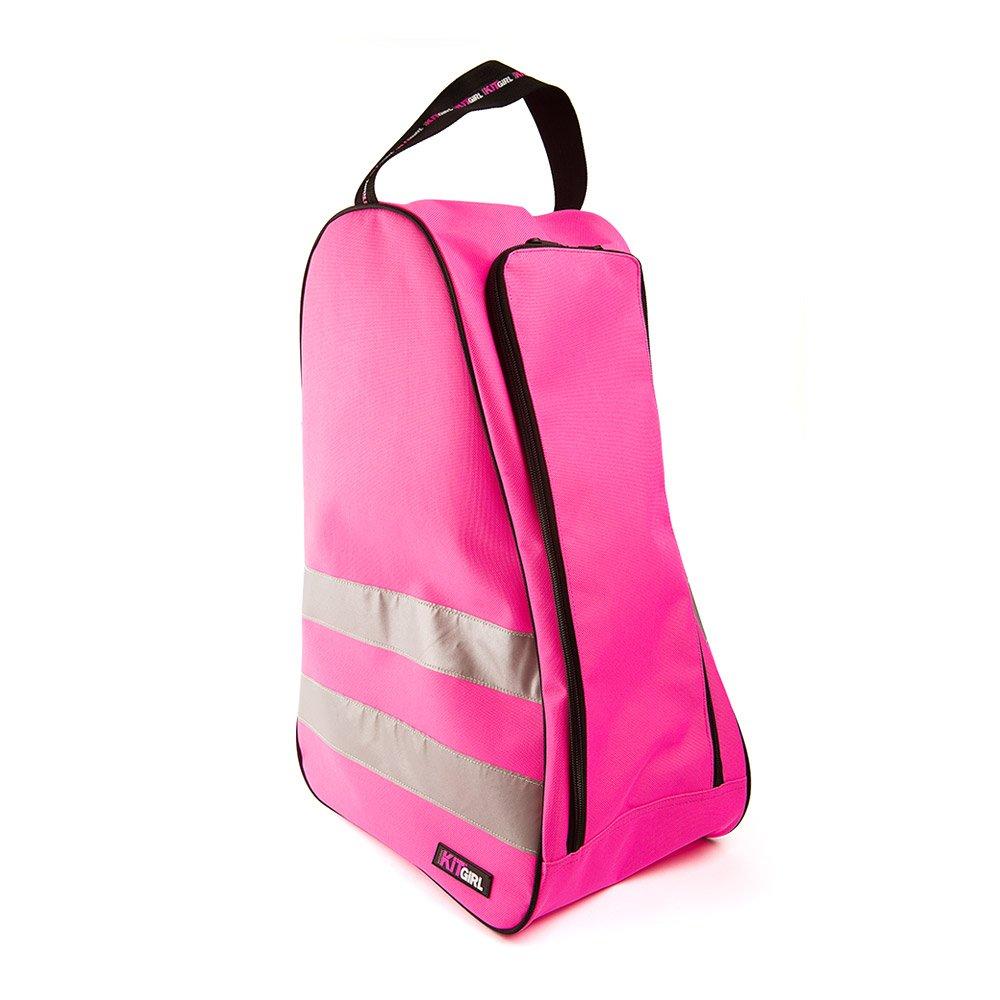 Hi Vis Pink Wellington Boot Bag by Workkitgirl