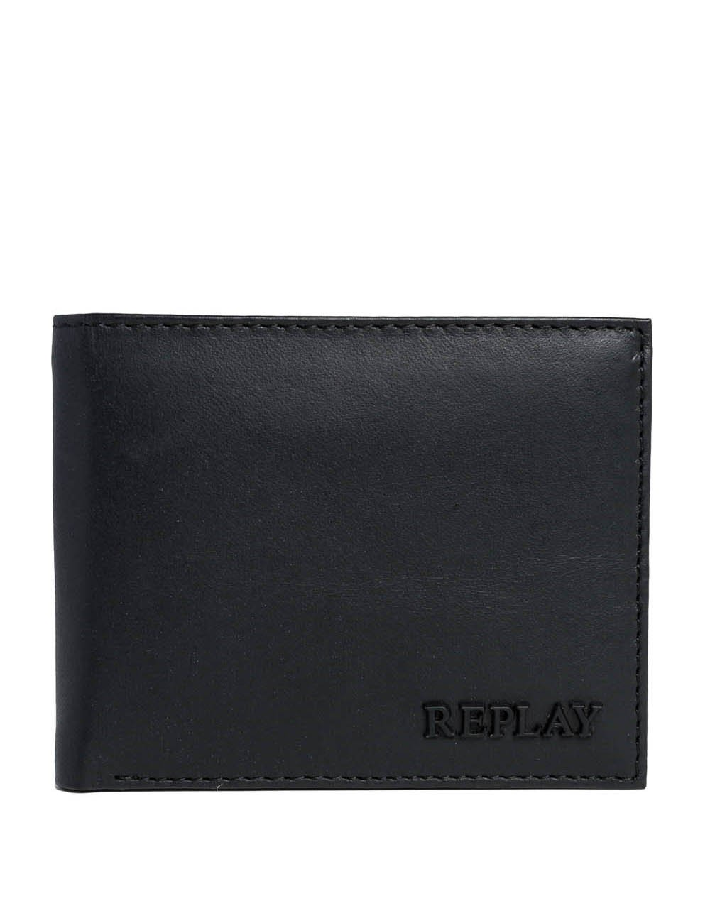 Replay Men's Men's Leather Black Wallet Black