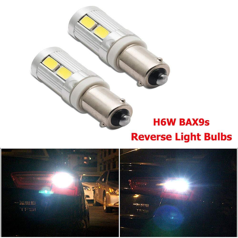 2X BAX9S H6W 433 434 LED BULB INDICATOR REVERSE PARKING SIDE LIGHT AMBER LAMPS