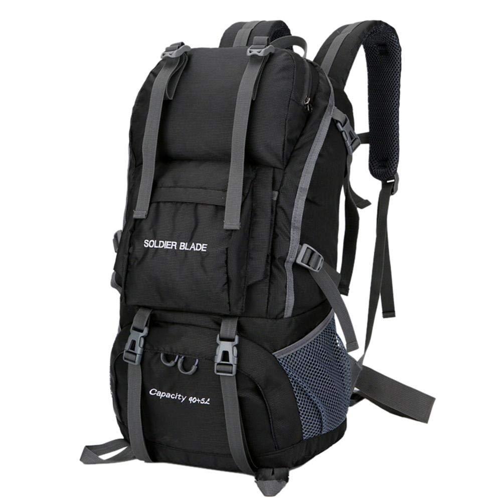 iBelly アウトドア 登山用バッグ 50L スポーツ メンズ レディース 防水バックパック B07GFMHN5S ブラック