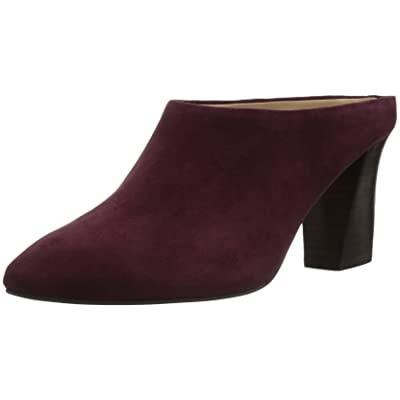 Amazon Brand - The Fix Women's Celeste Pointed-toe Block-heel Mule, wine, 8 M US: Shoes