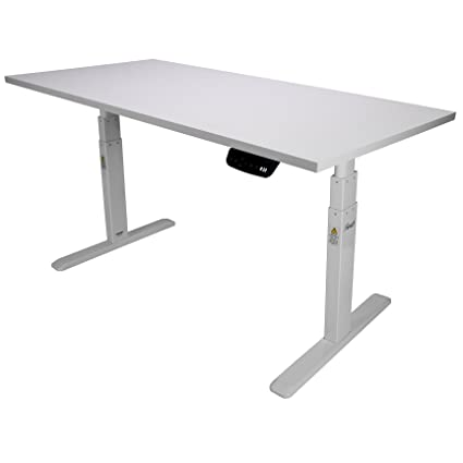 Amazoncom Rosewill Electric Standing Desk Frame Wood Table Top - Conference room table height