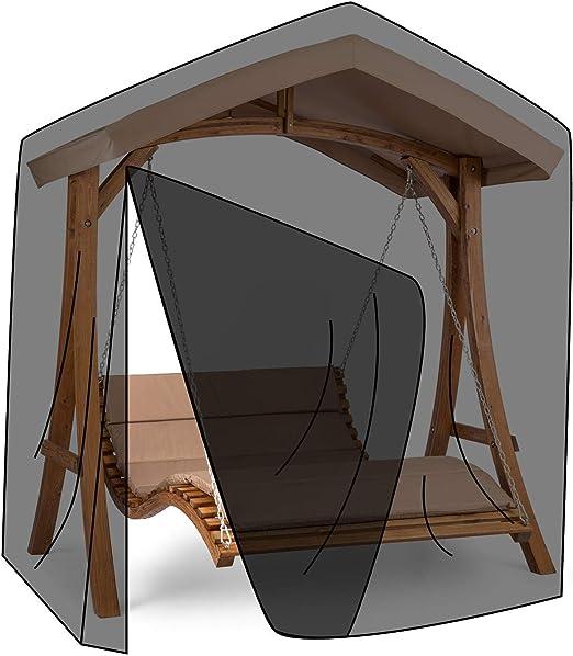 blumfeldt Bermuda Lona para la luvia - Material: 100% Poliéster, Impermeable, Apto para el Lavar con Agua fría, Accesorio, Negro: Amazon.es: Jardín