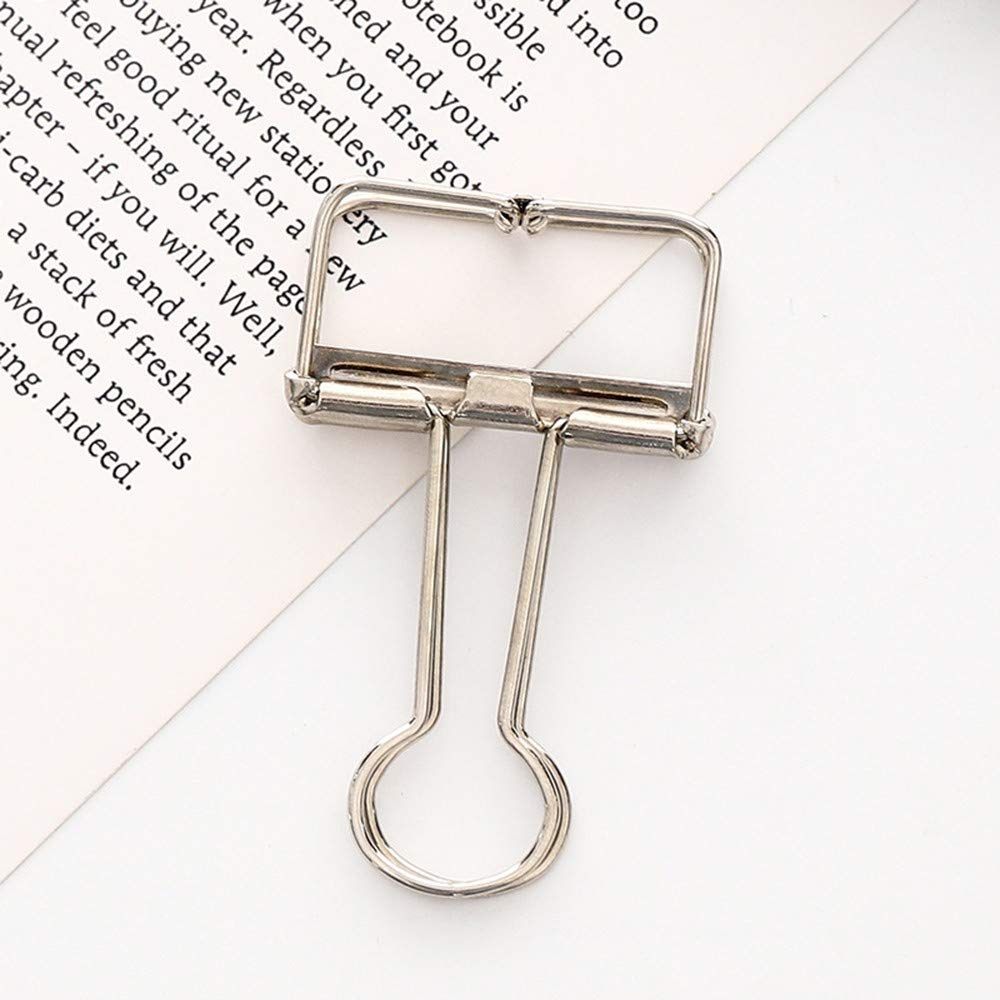 Aobiny Mini Metal Magnetic Clips , 1pc Metal Clip Cute Binder Clips Album Paper Clips Stationary Office, Holding Documents, Office Organizing (Silver)