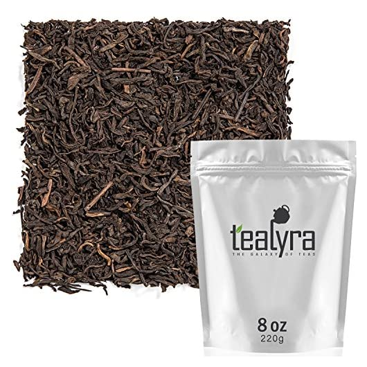 Tealyra – 5 Years Aged – Pu erh Ripe – Loose Leaf Tea – 100% Natural – Caffeine Level High – Loose Weight Tea – Healthy…