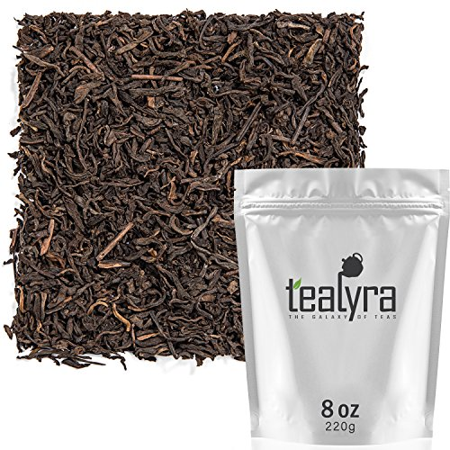 Tealyra - Ripe Pu'erh Tea - 5 Years Aged Loose Leaf - 100% Natural And Organic - Caffeine Level High - Lose Weight Tea - Aged Black Tea Pu Er - 220g (8-ounce) (Animals And Their Young Ones In Hindi)