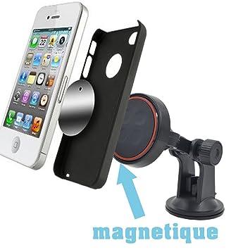 Amsupport  magneto   Support voiture magnetique Universel telephone et gps  avec Fixation Ventouse pour Pare brise f47919784ef