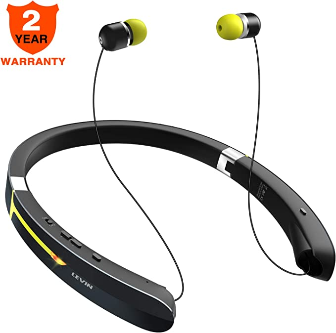 Auriculares inalámbricos con Bluetooth para el cuello – Auriculares deportivos ligeros a prueba de sudor con alerta de llamada de micrófono, auriculares retráctiles para teléfonos móviles Android, tabletas de TV más: Amazon.es: