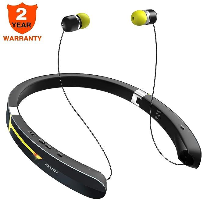 0fd75e46d19 Bluetooth Headphone Wireless Neckband Headset - Lightweight Sweatproof Sport  Earphones w/Mic Call Vibrate Alert