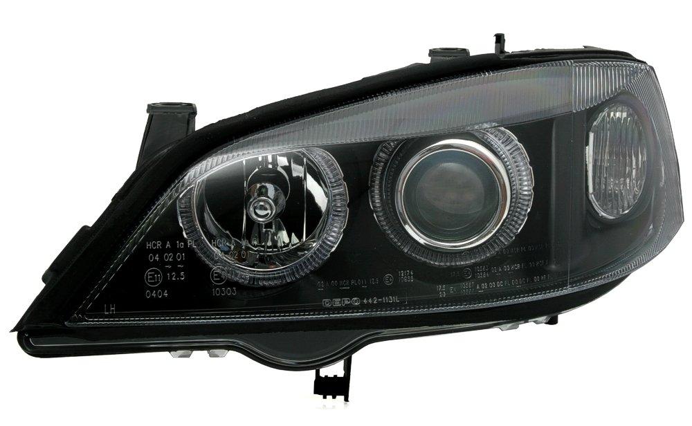 Klarglas Schwarz KG 960568 Angel Eyes Scheinwerfer Set AD Tuning GmbH /& Co