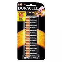 Pilha Alcalina Palito AAA Com 16 Unidades Duralock - Duracell
