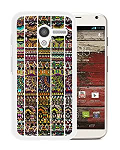 Unique And Fashionable Designed Cover Case For Motorola Moto X With Sakroots 01 White Phone Case