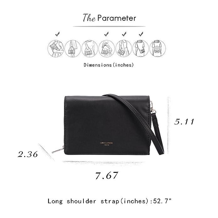 Amazon.com: David Jones Mujer piel Sintético Multi-Pocket ...