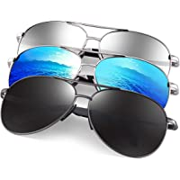 Polarized Aviator Sunglasses for Men - Feirdio Metal Frame Sports UV 400 Protection Mens Women Sunglasses 2261