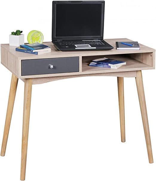 KS-Furniture SAMO - Escritorio (90 x 78 x 45 cm, con cajón en ...