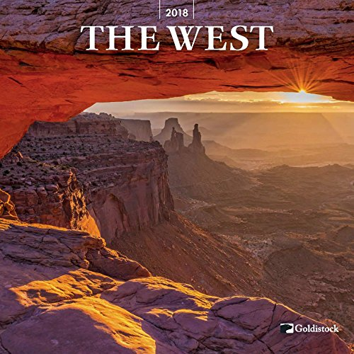 "Goldistock ""The West"" Eco-friendly 2018 Large Wall Calendar - 12"" x 24"" (Open) - Thick & Sturdy Paper - Featuring Texas, California, Utah, Wyoming, Idaho, Colorado and more"