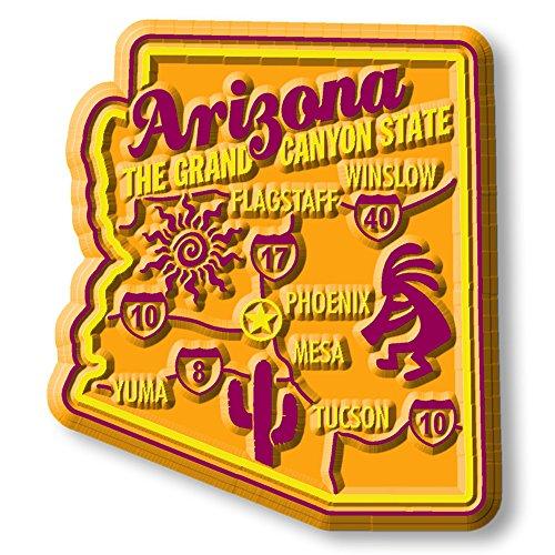 Premium State Map Magnet - - Premium Arizona