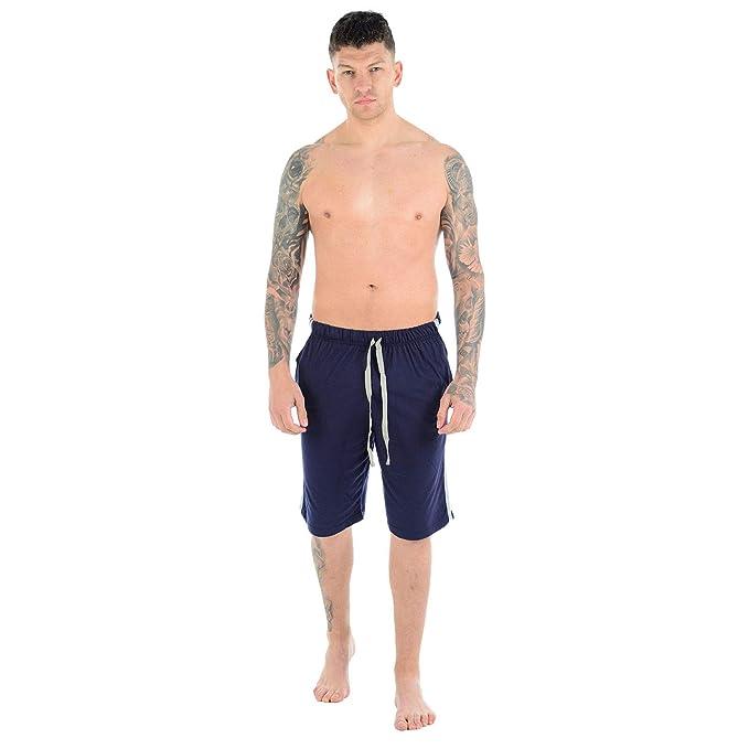 Mens Lounge Wear Shorts Nightwear Comfort Elasticated Waist Bottoms