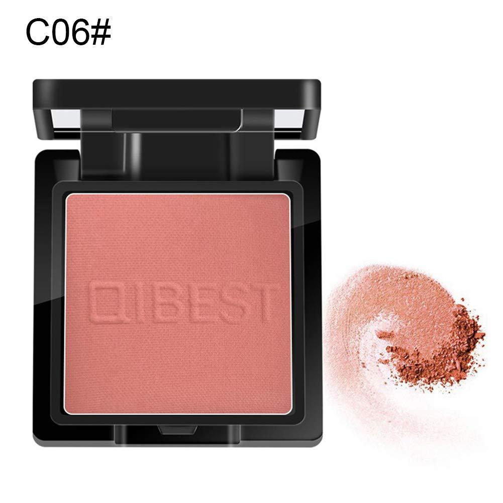 xxiaoTHAWxe Blusher, Natural Long Lasting Blusher Brightening Face Base Cheek Makeup Highlighter - 6