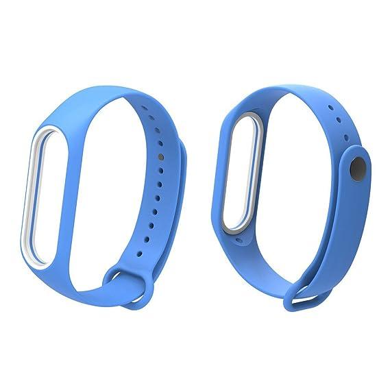 ... Watch para Unisex Silicona Correa de Suave Brazalete Dos Tonos Pulsera de Manera Wristbands Versión Juvenil Cadena de Repuesto Strap: Amazon.es: Relojes