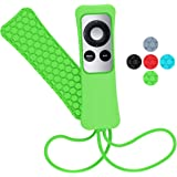 Sahiyeah for Apple TV Remote Case Light Weight Anti Slip Waterproof Shockproof Silicone Protective Case Cover for Apple TV 2 3 Remote Controller,Green